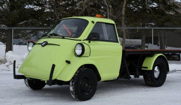 """BMW Isetta Truck: """"Hulk'un Mini Yeşil Kamyoneti"""""""