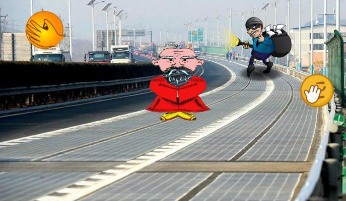 """Çin'de Elektrikli Araçlara Yapılan Güneş Paneli Yolu """"Çalındı"""""""