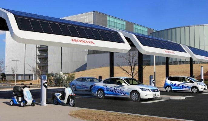 Honda'nın Elektrikli Araçlara Yönelik Olan Zeka Dolu Şarj İstasyon Projesi!