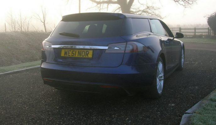 """Tesla Model S'e D Sütun Tadilatıyla Dünyada İlk """"Shooting Brake"""" Örneği!"""