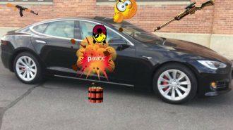 Tesla Model S'e Kurşun Geçirmez Iron Man Gövde!