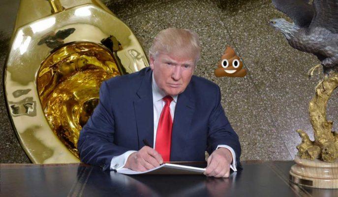"""Trump'ın Van Gogh Tablosu İsteğine Cevap: """"Altın Klozet"""""""