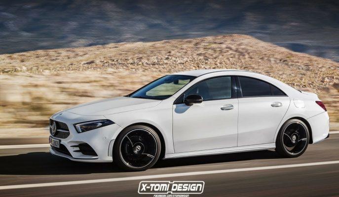 2020 Yılı için Hazırlanan Mercedes CLA'ya İlk Görsel X-Tomi Dizayn'dan Geldi!