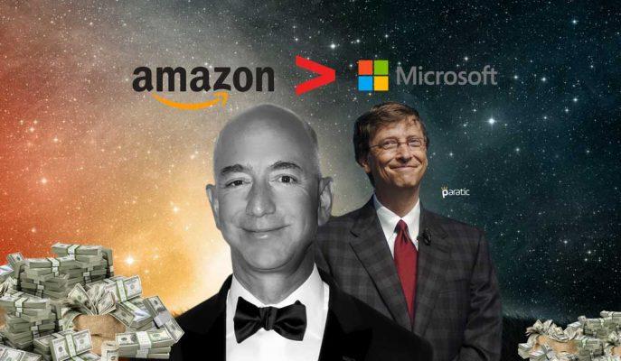 Jeff Bezos'un Amazon'u, Bill Gates'in Microsoft'unu Geçerek Bir İlke İmza Attı!