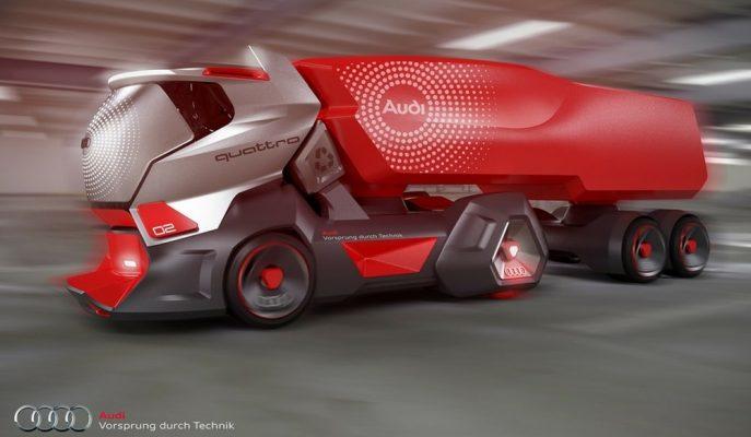"""Audi için Hazırlanan Farklı Yüzyıl Konsepti """"HMV Truck"""""""