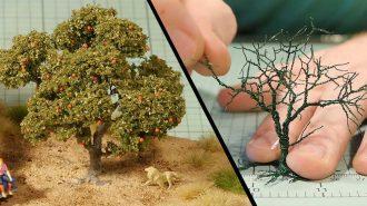 Bakır Tel Kullanılarak Yapılmış Ağacın Gerçekçi Görüntüsü