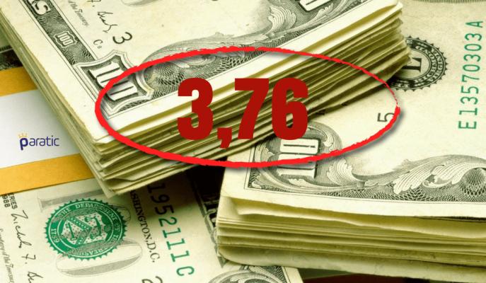 Dolar FED Öncesi 3,76'ya Yükseldi