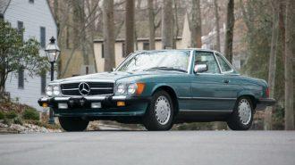 Olabilecek En Temiz 1988 Model Mercedes 560 SL Müzayede Yolcusu!