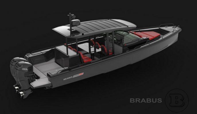 """Alman Brabus Karadan Çıkıp Sulara İniyor: """"Shadow 800 Boat"""""""