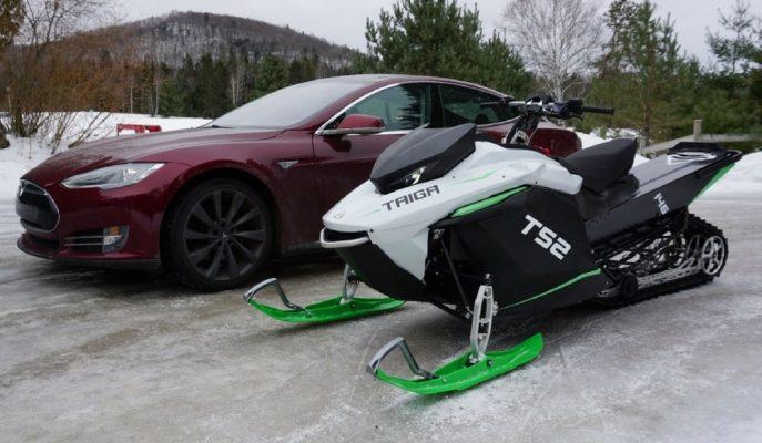 Dünyanın En Hızlı Kalkışına Sahip EV Taiga TS2 Kar Motosikleti!