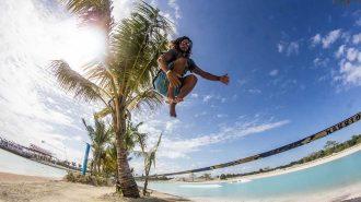 İp Üzerinde Zıplayarak Yapılan Etkileyici Slackline Performansları