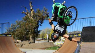 Tekerlekli Sandalyesi ile Parkur Üzerinde Muhteşem Performansa İmza Atan Sporcu!
