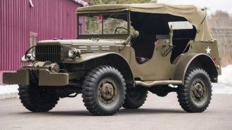 1942 Model Savaş Zamanlarından Kalma Dodge Power Wagon'lar Satılıyor!