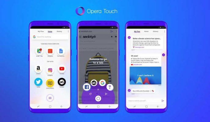 Kullanım Rahatlığıyla Öne Çıkan Opera Touch Play Store'da Yayınlandı!