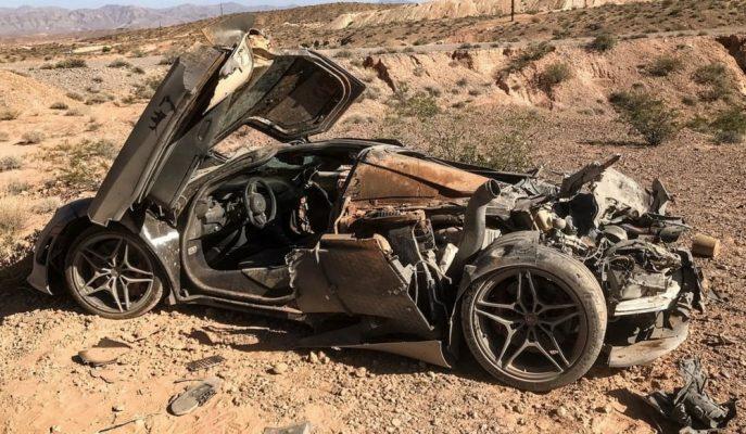 Las Vegas Polisi Kaza Geçiren McLaren 720S'i Tesadüf Eseri Bulmuş!