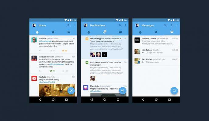 Twitter Android Uygulaması için Yeni Arayüz Testleri Yapıyor