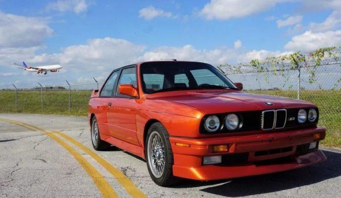 """Valencia Orange Rengiyle Satılığa Çıkan Efsane:""""BMW M3 E30″"""