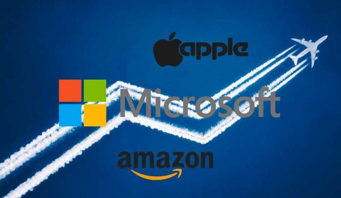 Apple, Amazon ve Microsoft Üçlüsünün Piyasa Değeri 2.5 Trilyon Doları Aştı!