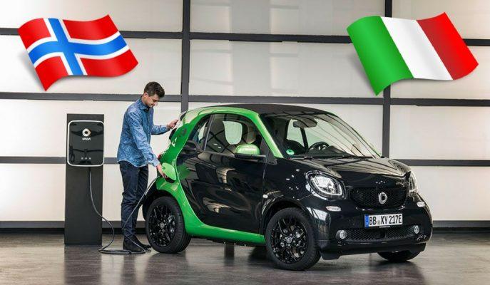 Elektrikli Araba Satışlarında İtalya ve Norveç Kapışıyor!