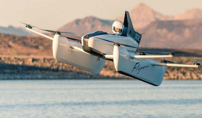 Kitty Hawk Şirketi Tek Kişilik Tamamı Elektrikli Uçan Flyer Aracını Tanıttı!