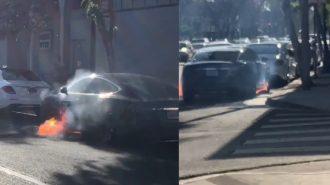 Tesla Araçları Artık Hareket Halindeyken de Yanıyor!