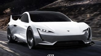 "Uzay Aracı Karaya İndi: ""Tesla Roadster SpaceX"""
