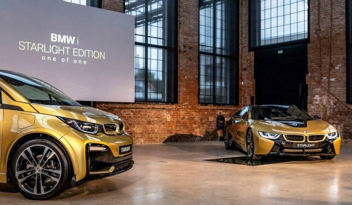 """BMW i3 ve i8'de Uyguladığı 24 Ayar Altın Kaplamalı """"Starlight Edition""""ı Tanıttı!"""