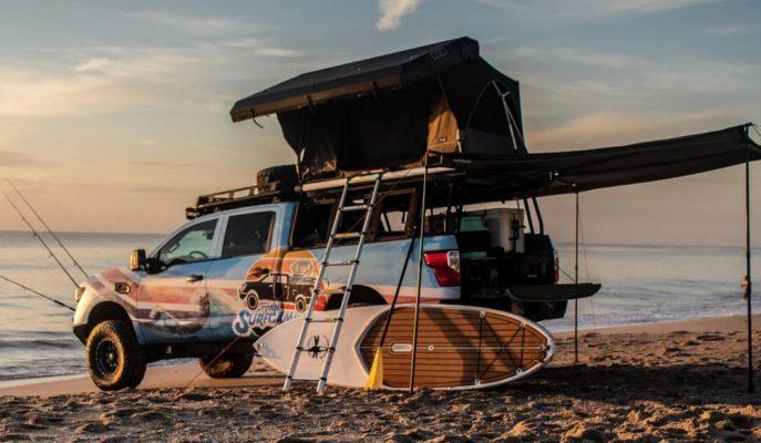 """Sahillerin En Havalı Kamyoneti: """"Nissan Titan Surfcamp"""""""