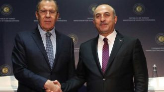 Dışişleri Bakanı Mevlüt Çavuşoğlu Rus Meslektaşı Sergey Lavrov ile Bir Araya Geldi