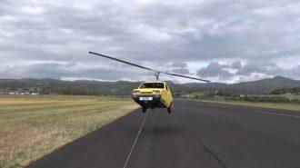 Reliant Robin Carcopter'ın Uçuş Denemesi Felaketle Sonlanıyordu!
