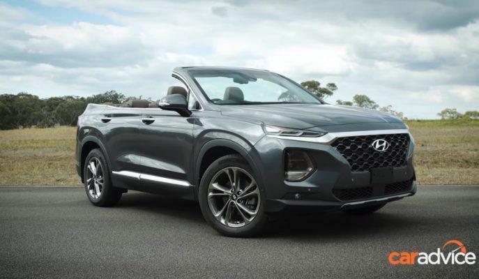 """Dünyanın İlk Dört Kapılı 7 Kişilik Üstü Açık SUV'u: """"Hyundai Santa Fe Cabriolet"""""""