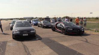 """8.0L W16'ya Karşı 2.7L V6: """"Bugatti Chiron vs Audi S4"""""""