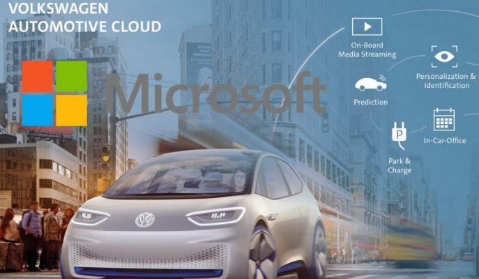 VW AraçlarArası Bağlantı Bulut Sistemi için Microsoft ile Anlaşıyor!
