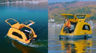 """Küçük Bir Tekneye Dönüşebilen Karavan """"Minibig"""""""