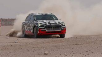 Audi EV SUV E-Tron'un Quattro ve Sürüş Özellikleri Gösterildi!