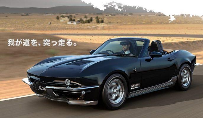 """Mazda MX-5'in Chevy Corvette C2 Dönüşümü: """"Rock Star"""""""