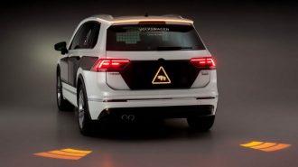 VW'nin İnteraktif Yeni Far Sistemi ile Her Şey Yola Yansıtılacak!