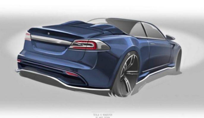 Ares Tasarım Tesla Model S Roadster'a Ait Çizimini Gösterdi!