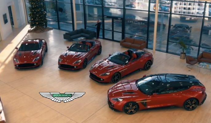 """Aston Martin """"Vanquish Zagato"""" Ailesinin Dört Üyesini Aynı Anda Bir Kişi Satın Aldı!"""