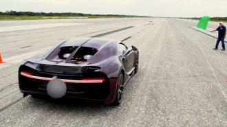 Bugatti Chiron Hız Denemesinde Jet Uçağı Gibi Sesler Çıkartıyor!