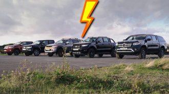4X4 Pick-up'ların Heyecanlı Drag Yarışını İzleyin!