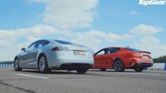 """Amerikalıya Meydan Okuyan Koreli: """"Kia Stinger GT Vs. Tesla Model S"""""""