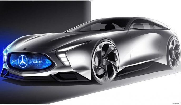 """Türk Tasarımcıdan Mercedes SL'ye Yeni Bir Soluk Getirecek """"SLE"""" Çizimi!"""