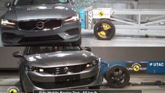 Volvo V60 ve Peugeot 508 Euro NCAP Kaza Testleri!
