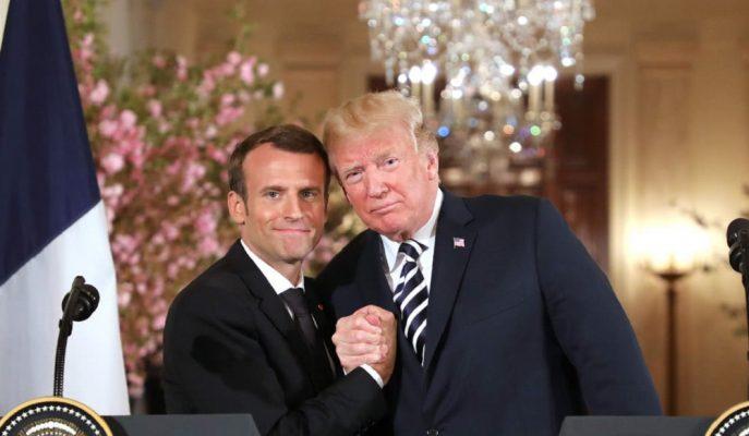 """Trump'tan Macron'a İğneli Gönderme: """"Ben Bu Sonuca 2 Yıl Önce Varmıştım"""""""