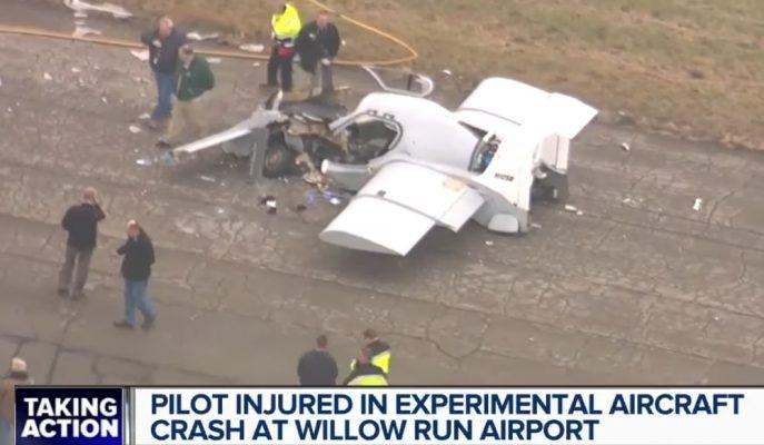 Detroit Flying Cars'ın Uçan Arabası Amacına Ulaşamadan Yere Çakıldı!