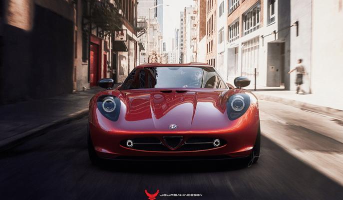 Türk Tasarımcıdan Alfa Romeo 33 Stradale'ye 21. Yüzyıl Yorumu!