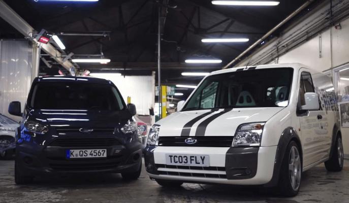 "Ford'un Focus RS Parçalarıyla Yaptığı 255 PS'lik ""Transit Connect RS"""