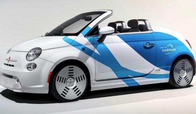Samsung-Harman'ın Yapay Zekalı Aracı Fiat 500e!