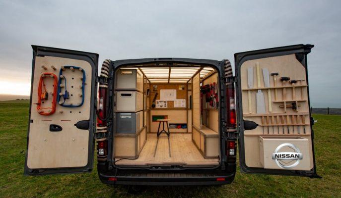 Nissan Belçika'da Sanat Severlere NV300'ün Atölye Konseptini Gösterdi!